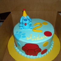 Blue's Clues this was my first time ever making a fondant figure.