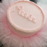 Tutu Cake For Reese  really simple cake, didn't do much in the way of actually decorating except to do the ruffle around the top edge and her name. The...
