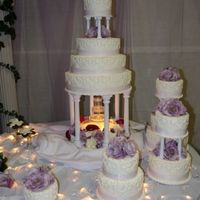 Daughter's Wedding Cake UPDATED PHOTO - This is the full cake now, This is just a small portion of the 12-tier wedding cake I made for my daughter. The photo of...
