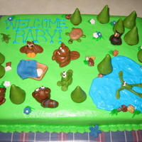 Woodland Cake The customer wanted something woodland, and this is what I came up with. This was fun to do! Thanks for looking