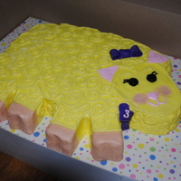 Mary Had A Yellow Sheep for a little girl who wanted a sheep cake. this is what i came up with... bc with mmf accents. thanks for looking