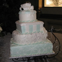 Winter Wedding Cake The bride had specifics for each layer of this cake. There were alot of firsts for me on this cake. The roping by hand sucked - I really...