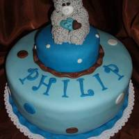 Christenint Cake for my friend and her son Philip