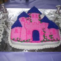 Princess Castle The first birthday cake I ever made for my daughter!!