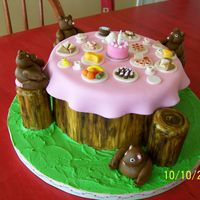 Teddy Bears Picnic Dummy cake - decorated for 2007 NC State Fair. All fondant decorations.