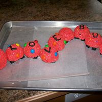 Caterpillar Rice crispy Valentine day caterpillar