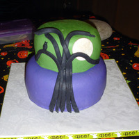 Spooky Tree Cake With Owl And Moon All MMF. Thanks.