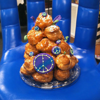 Peace Croquembouche There probably hasn't been one of these made outside of France since 1971. It was a birthday cake for our first-grade teacher. She...