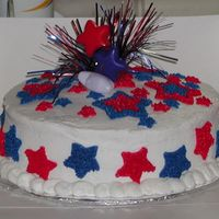 Quick 4Th Of July Cake I was asked to do a cake for the 4th...that the people almost didn't buy. But that's another story. Chocolate cake with...