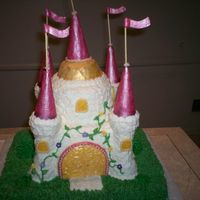 Castle Cake This was my first try at a castle cake. Each section is a different flavor. The Windows and door is made of white chocolate. Everything is...