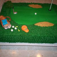 Birthday For A Golfer I made this for my cousin's birthday. He loves to play golf. It is a marble cake with buttercream icing. I used crushed graham...