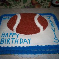 Teenager Birthday This is a cake I made for a coworker's son. He plays football and his number is 40. This is all white cake with buttercream.