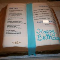 Birthday Book This is a white cake covered in fondant. The writing is an edible image and I used luster dust on the edges of the pages. I cut this from...