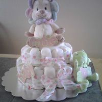 "Diaper Cake Cake This cake was made with twinkie ""diapers"" and is made to look like those diaper cakes but a real cake. Haven't seen this..."