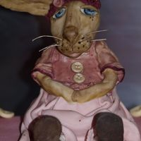 Folk Art Rabbit 3D Folk art bunny rabbit . I made her to sit on a cake I made as an Easter present for a friend.