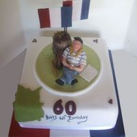 French Man Cake Topper And Cake French Man Cake Topper and Cake