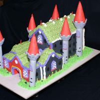 "Nueschwanstein Castle This was my first free form 3D cake. I based it on the cake shown and used in ""The Sound of Music"" Nueschwanstein Castle. It is 6..."