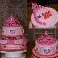 "Girlie Cake My grandson's teacher gave me 12 hrs notice to do a ""girlie"" cake for her 28yo daughter. She wanted everything pink. I..."