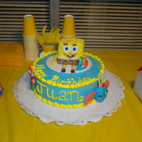Sponge Bob Cake i made this cake for my nephew, first character cake i make and enjoy it .