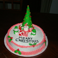 Xmas Cake I made this cake for Our X-mas party