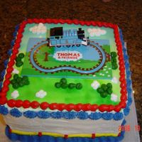 Thomas Cake   I made this for my son's fourth birthday, with an accessory from my local cake supply store.