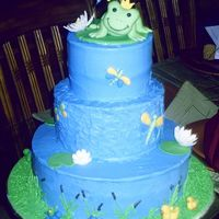 Froggy Tales This is my first attempt doing a tier cake. It was for my SIL baby shower. Bottom cake is vanilla with strawberry filling. Middle cake is...