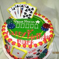 Texas Holdem I did this cake for a huge fan of Texas Hold'em. I have done two more like this since then. I used actual cards and poker chips and...