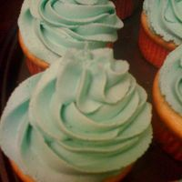 My Nephews Birthday Cupcakes   Vanilla cupcake with almond/lemon buttercream.