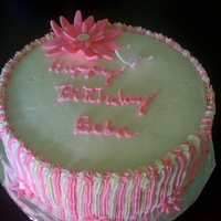 My Niece's Birthday Cake   Lemon cake with vanilla buttercream...flowers and butterfly made out of fondant