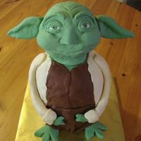 Yodacake.jpg Yoda cake! Tutorial to make this cake was courtesy of Sandra on Flickr.Hers is infinitely cooler than mine, but I'm O.K. with that...