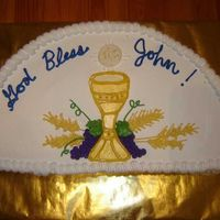 Johnrobbfirstcommunioncakel.jpg A First Communion cake for my godson.