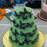 Ossas 2007 Butterfly Cake This got second place in adult advanced tiered cakes (non-wedding). HOORAY!!!!