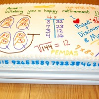 Math Teacher Retirement Cake for the retirement of a math teacher at our school.