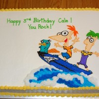 Phineas And Ferb Birthday Phineas and Ferb birthday cake all buttercream