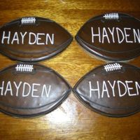Football Cookies   Sugar cookies with royal icing.
