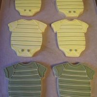 Onesies   Sugar cookies with royal icing.