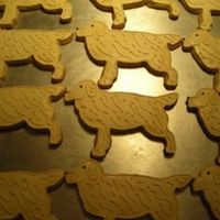 Golden Retrievers   sugar cookies with royal icing. Golden retrievers made for a friend, She gave them to her dog walker, veterinarians, and pet sitters.