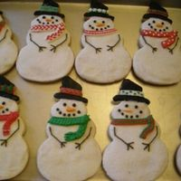 Snowmen   Sugar cookies with royal