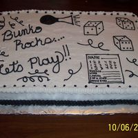 Bunko Cake This cake was made using a 12x18 pan.
