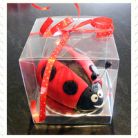 Ladybug Chocolate mud cake with fondant