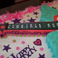 "Gypsy Guiter ""cowgirls Rock"" Cake"