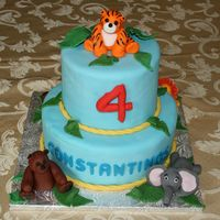 Jungle Birthday   All decorations are fondant.
