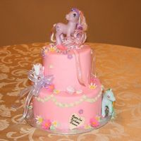 My Little Pony  Freed's Bakery Design; Vanilla White Chocolate top layer, Almond Mocha bottom layer. All covered in Vanilla IMBC and Fondant. This was...