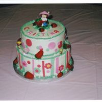 Strawberry Shortcake  Vanilla cake with fresh strawberry filling and IMBC, iced in IMBC with fondant accents...thanks to all the other Strawberry Shortcake pics...
