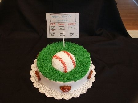 2Nd Cake Mother wanted a softball and swimming theme since that's what her daughter likes. I opted for two smaller cakes so the themes would...