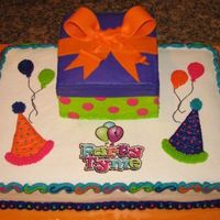 Party Store Cake For Ribbon Cutting Ceremony