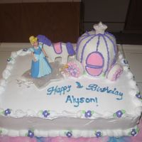 Cinderella I did this cake for a little girl she wanted cinderella so we tryed to a carrage from the wilton year book 2008 it was really hard it didnt...