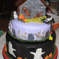 My Halloween Cake! I did this cake for my family I got the idea form the issue from Amercican cake mag they were telling how to do it everything is fodont the...