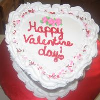 Heart Shape Valentines   i did this cake for a friend but i think i wrote valentine wrong oh he liked anyways