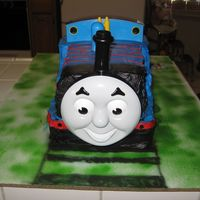 3-D Thomas The Train this was my first time doing anything that had to do with Thomas the train and the wanted this kind of cake it could been better I think,...